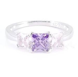 Jewelry - Sterling Silver Pink Topaz & Amethyst Ring